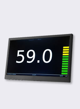 sound level display on hdmi monitor or tv